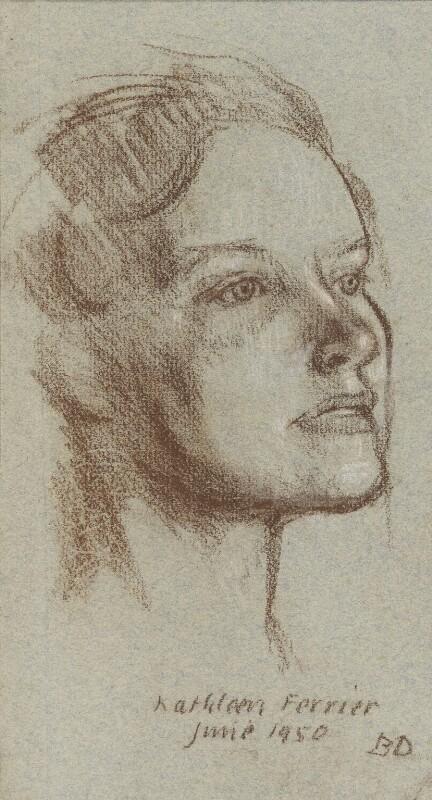 Kathleen Ferrier, by Bernard Dunstan, 1950 - NPG 5040(3) - © National Portrait Gallery, London
