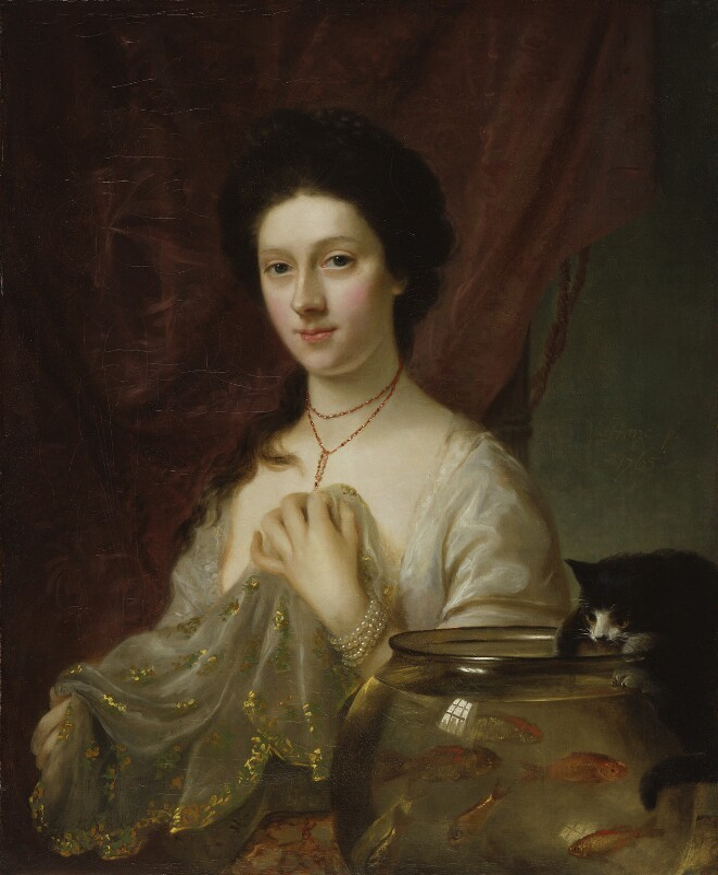 Kitty Fisher, by Nathaniel Hone, 1765 - NPG 2354 - © National Portrait Gallery, London
