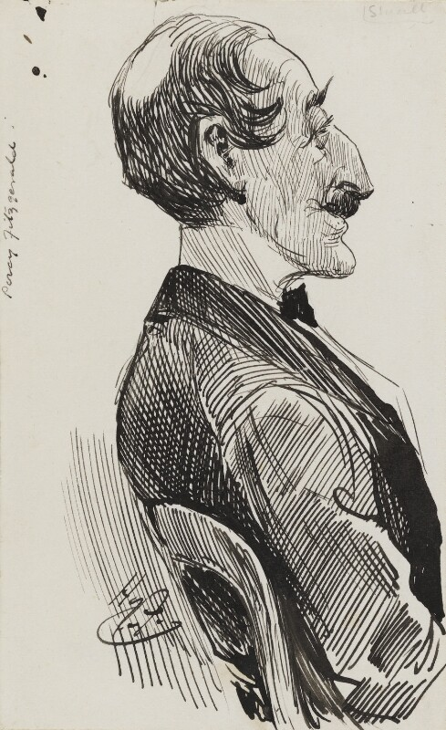 Percy Fitzgerald, by Harry Furniss, 1880s-1900s - NPG 3571 - © National Portrait Gallery, London