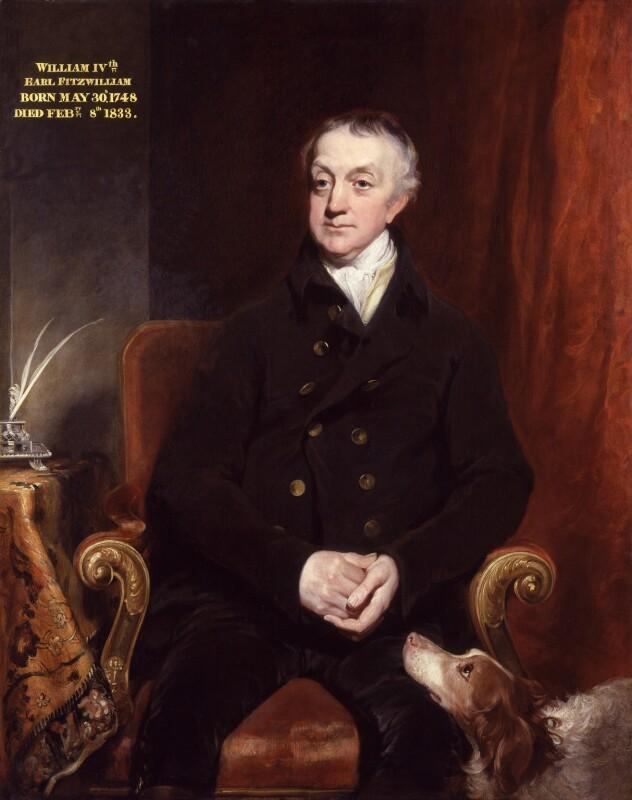 William Wentworth Fitzwilliam, 2nd Earl Fitzwilliam, by William Owen, exhibited 1817 - NPG 4979 - © National Portrait Gallery, London