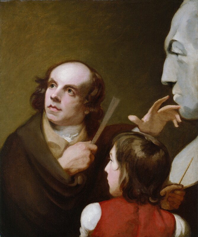 John Flaxman; Thomas Alphonso Hayley, by George Romney, 1795 -NPG 101 - © National Portrait Gallery, London