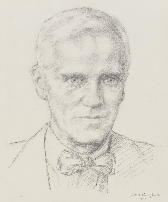 Alexander Fleming, by Helen McDougall Campbell, 1944 - NPG 3988 - © National Portrait Gallery, London
