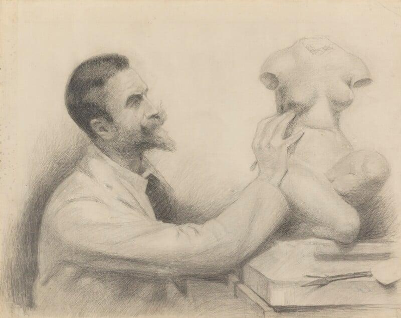 (Edward) Onslow Ford, by John McLure Hamilton, 1893 -NPG 4391 - © National Portrait Gallery, London