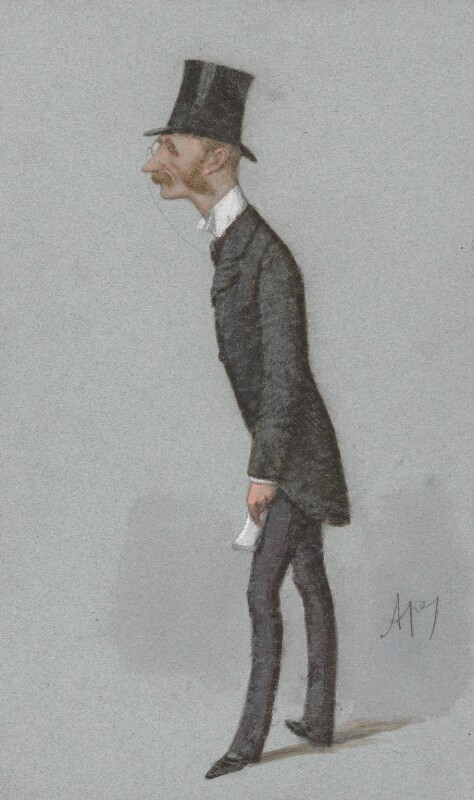 Hugh Fortescue, 4th Earl Fortescue, by Carlo Pellegrini, published in Vanity Fair 19 February 1887 - NPG 3266 - © National Portrait Gallery, London