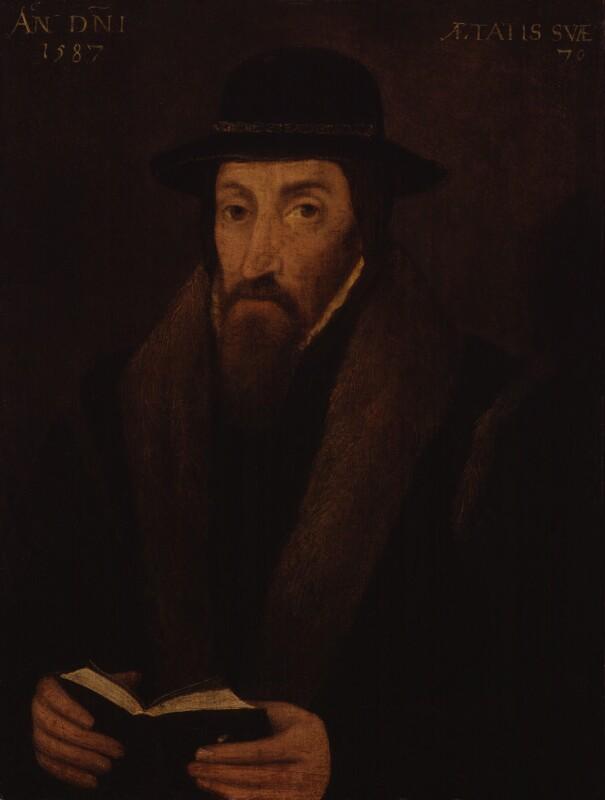 John Foxe, by Unknown artist, 1587 - NPG 24 - © National Portrait Gallery, London