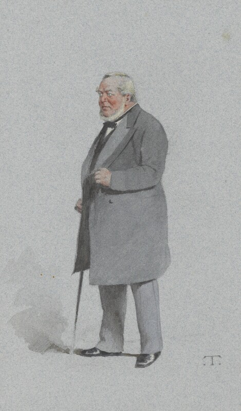 Sir Charles James Freake, 1st Bt, by Théobald Chartran ('T'), published in Vanity Fair 31 March 1883 - NPG 2574 - © National Portrait Gallery, London