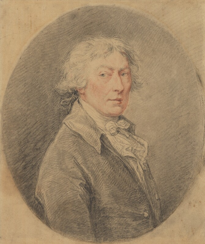 Thomas Gainsborough, by Francesco Bartolozzi, after  Thomas Gainsborough, circa 1797, based on a work of 1787-1788 - NPG 1107 - © National Portrait Gallery, London
