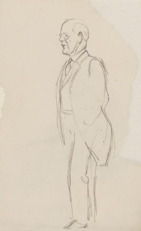 John Galsworthy, by Sir David Low, 1927 or before - NPG 4529(138) - © Solo Syndication Ltd