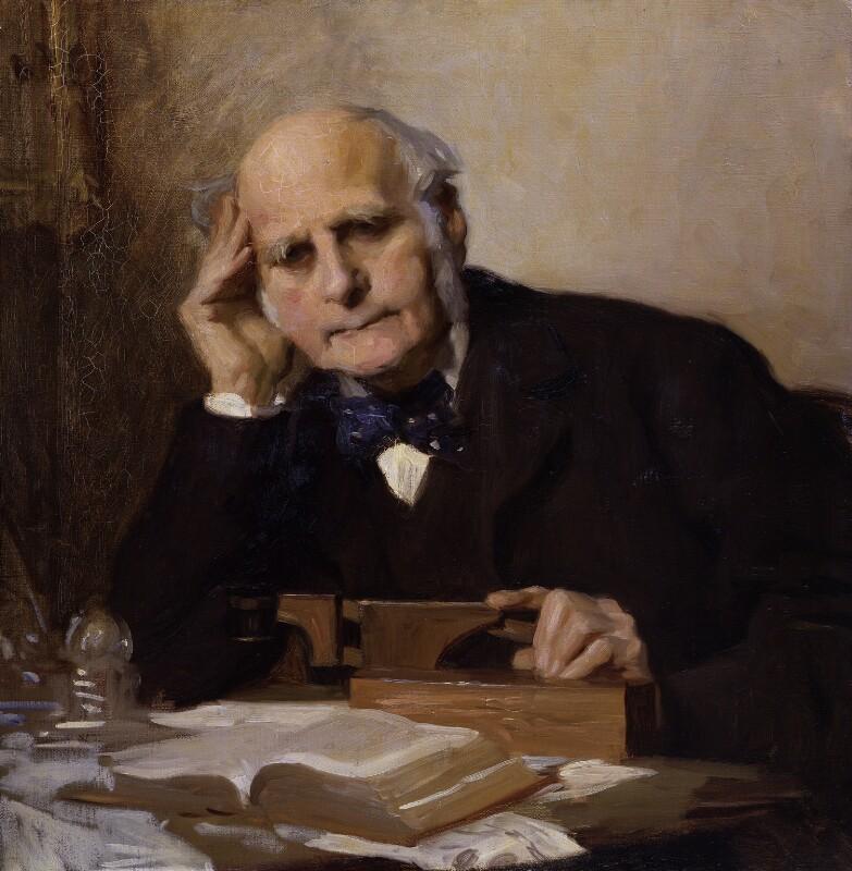 Sir Francis Galton, by Charles Wellington Furse, 1903 - NPG 3916 - © National Portrait Gallery, London