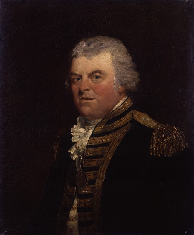 Alan Gardner, 1st Baron Gardner, by Theophilus Clarke, 1799 - NPG 2103 - © National Portrait Gallery, London