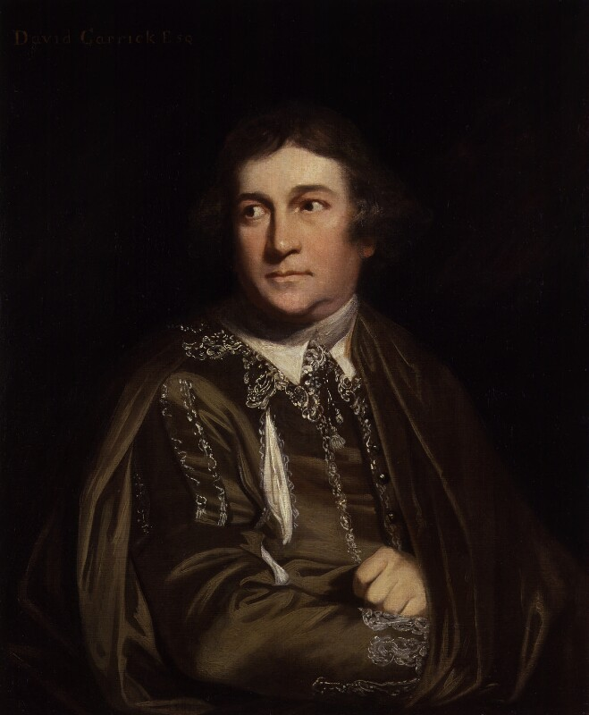 David Garrick as Kitely in 'Every Man in his Humour', by Sir Joshua Reynolds, 1768 -NPG 4504 - © National Portrait Gallery, London