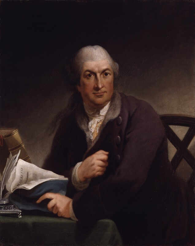 David Garrick, by Robert Edge Pine, circa 1775 - NPG 82 - © National Portrait Gallery, London