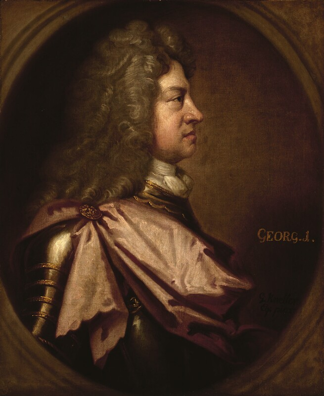 King George I, by Sir Godfrey Kneller, Bt, circa 1714 -NPG 4223 - © National Portrait Gallery, London