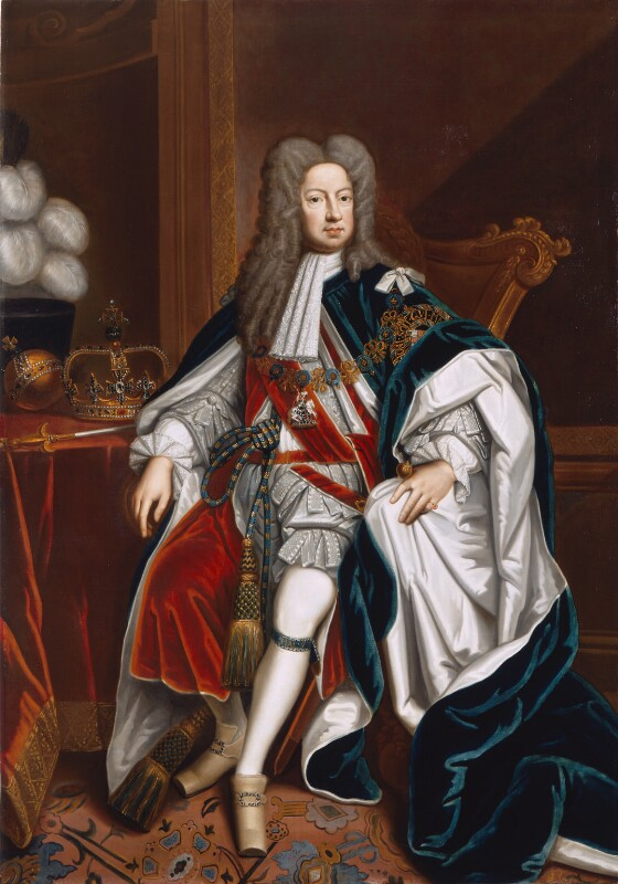 King George I, studio of Sir Godfrey Kneller, Bt, 1714-1725, based on a work of 1714 - NPG 544 - © National Portrait Gallery, London