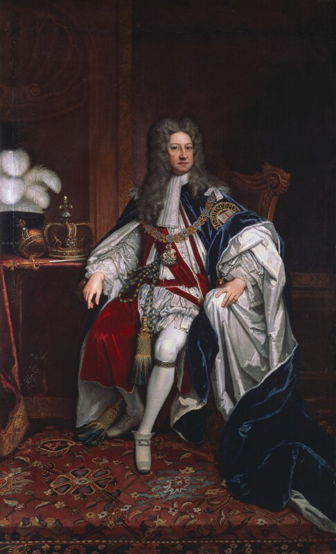 King George I, replica by Sir Godfrey Kneller, Bt, 1716, based on a work of 1714 - NPG 5174 - © National Portrait Gallery, London