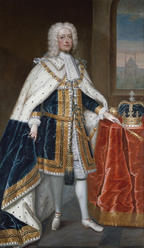 King George II, studio of Charles Jervas, circa 1727 - NPG 368 - © National Portrait Gallery, London