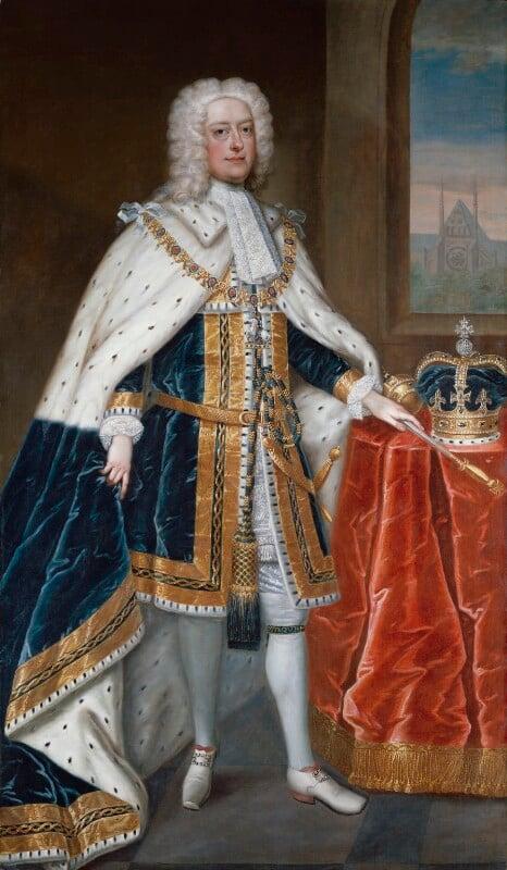 King George II, studio of Charles Jervas, circa 1727 - NPG 368 - © National Portrait Gallery, London