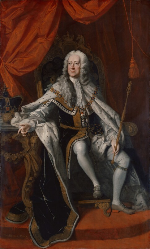 King George II, by Thomas Hudson, 1744 - NPG 670 - © National Portrait Gallery, London