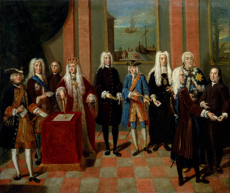 Group associated with the Moravian Church, attributed to Johann Valentin Haidt, circa 1752-1754 - NPG 1356 - © National Portrait Gallery, London