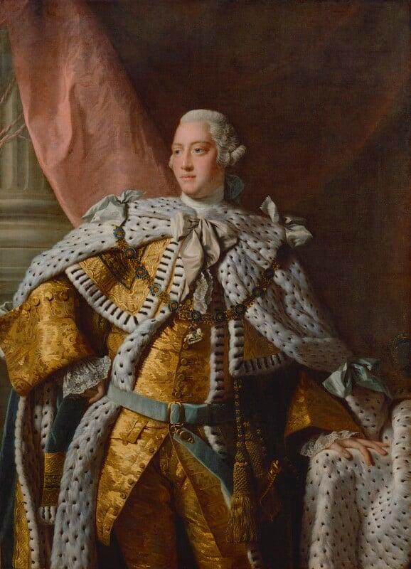 King George III, by Allan Ramsay, based on a work of 1761-1762 -NPG 223 - © National Portrait Gallery, London