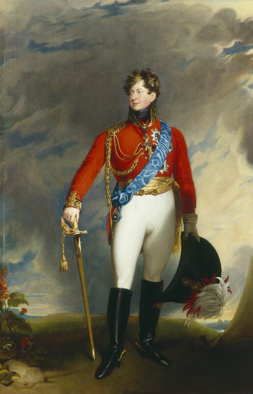King George IV, after Sir Thomas Lawrence, 1830, based on a work of 1815 - NPG 2503 - © National Portrait Gallery, London
