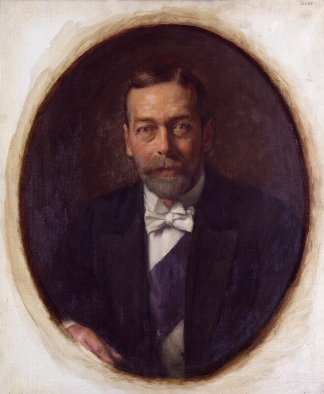 King George V, reduced copy by Lance Calkin, based on a work of circa 1914 - NPG 4604 - © National Portrait Gallery, London