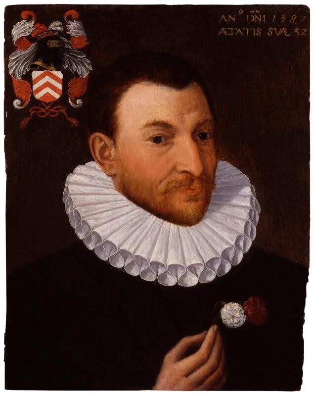 Unknown man of the Van Nierop family, attributed to Isaac Claesz van Swanenburg, 1587 - NPG 1306 - © National Portrait Gallery, London