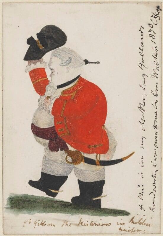 Edward Gibbon, by Unknown artist, circa 1825 - NPG 3317 - © National Portrait Gallery, London