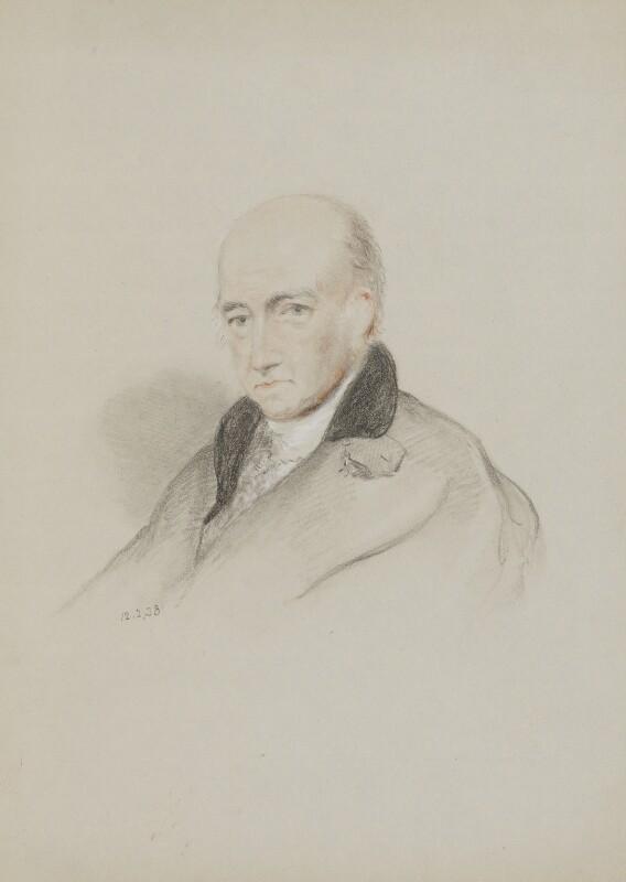 Davies Gilbert, by William Brockedon, 1838 - NPG 2515(88) - © National Portrait Gallery, London