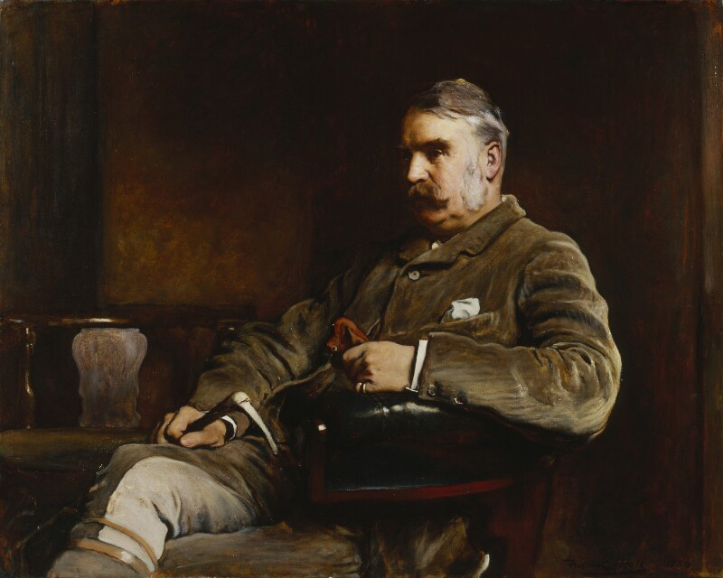 Sir William Schwenck Gilbert, by Frank Holl, 1886 - NPG 2911 - © National Portrait Gallery, London