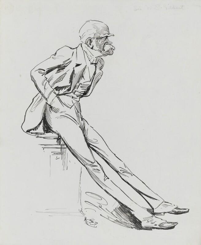 Sir William Schwenck Gilbert, by Harry Furniss, 1880s-1900s - NPG 3452 - © National Portrait Gallery, London