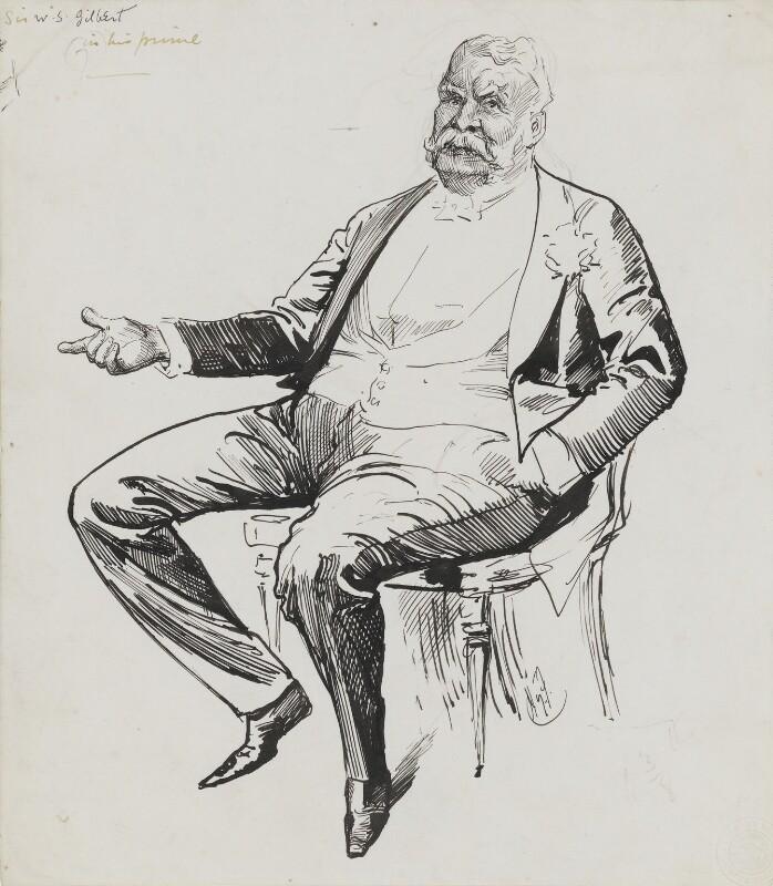 Sir William Schwenck Gilbert, by Harry Furniss, 1880s-1900s - NPG 3453 - © National Portrait Gallery, London