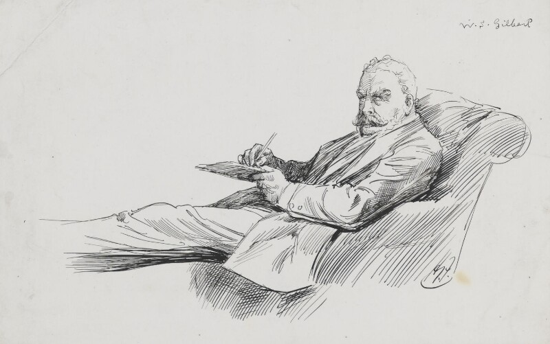 Sir William Schwenck Gilbert, by Harry Furniss, 1880s-1900s - NPG 3574 - © National Portrait Gallery, London