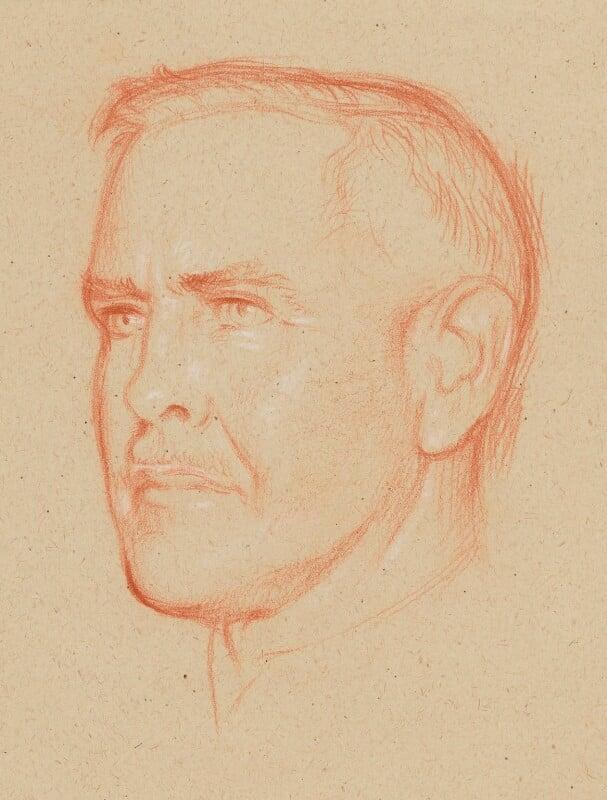 Gathorne Robert Girdlestone, by William Rothenstein, circa 1899-1938 - NPG 4801 - © National Portrait Gallery, London