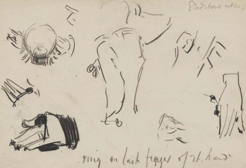 William Ewart Gladstone, by Sydney Prior Hall,  - NPG 2312 - © National Portrait Gallery, London