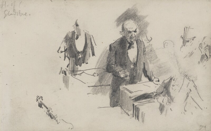 William Ewart Gladstone, by Sydney Prior Hall,  - NPG 2323 - © National Portrait Gallery, London