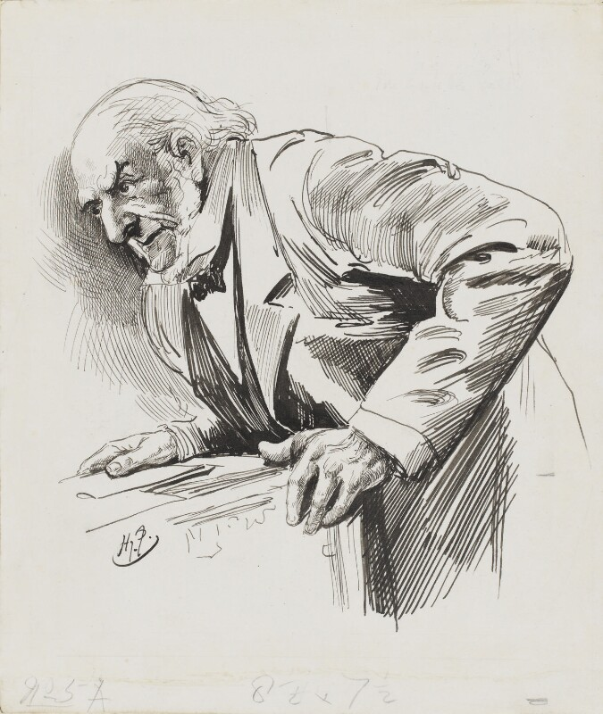 William Ewart Gladstone, by Harry Furniss, 1880s-1900s - NPG 3359 - © National Portrait Gallery, London