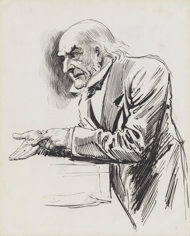 William Ewart Gladstone, by Harry Furniss, 1880s-1900s - NPG 3363 - © National Portrait Gallery, London