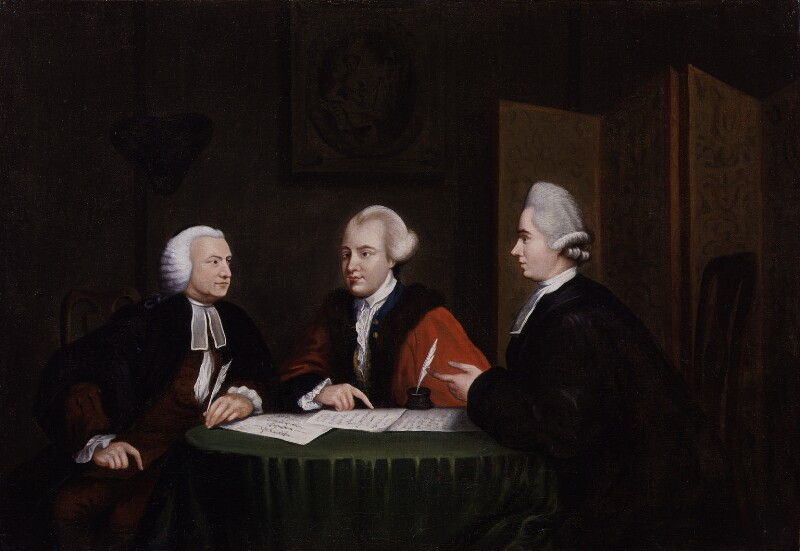 John Glynn, John Wilkes and John Horne Tooke, by Richard Houston, based on a work of after 1769 -NPG 1944 - © National Portrait Gallery, London