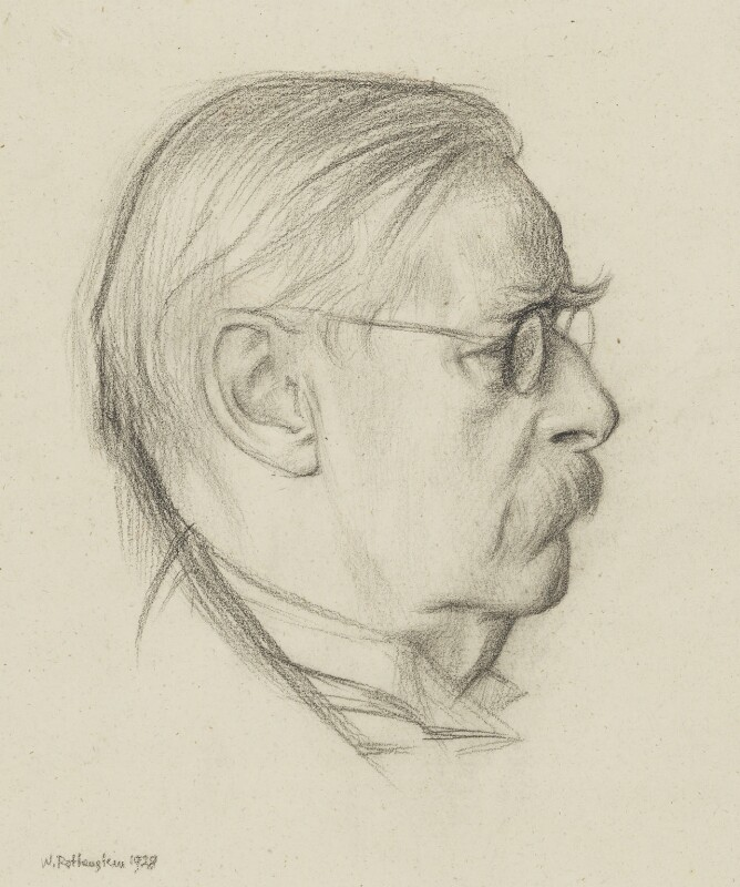 Sir Edmund William Gosse, by William Rothenstein, 1928 - NPG 2359 - © National Portrait Gallery, London