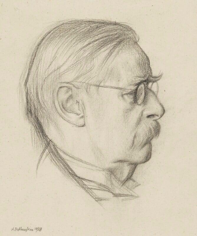 Sir Edmund William Gosse, by Sir William Rothenstein, 1928 - NPG 2359 - © National Portrait Gallery, London
