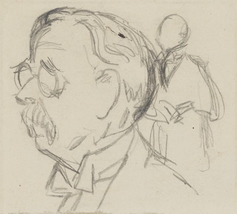 Sir Edmund William Gosse, by Sir David Low, 1920s? - NPG 4529(141) - © Solo Syndication Ltd