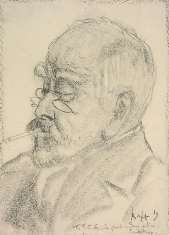 Sir Francis Carruthers Gould ('F.C.G.'), by Edmond Xavier Kapp, 1919 -NPG 3315 - © estate of Edmond Xavier Kapp