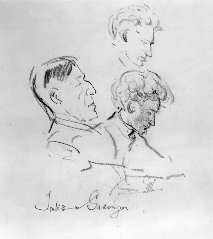 Henry Tonks; Percy Grainger, by George Washington Lambert, 1910 - NPG 3137a - © National Portrait Gallery, London