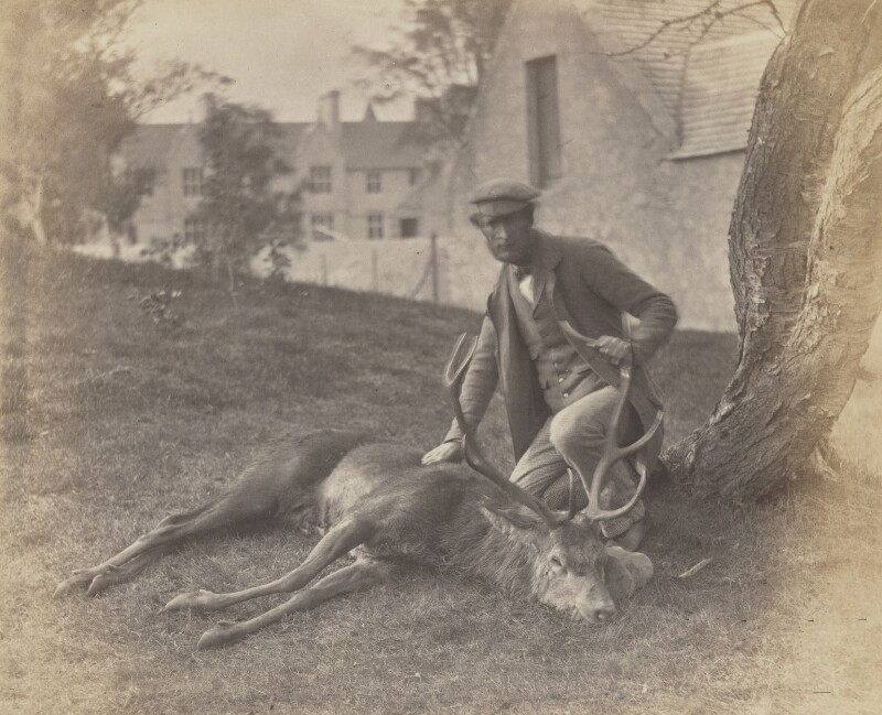 John Grant & the same Stag, by George Washington Wilson, 1854 - NPG P22(13) - © National Portrait Gallery, London