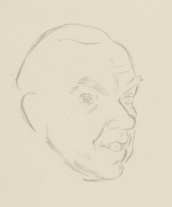 Graham Greene, by Sir David Low, 1952 or before - NPG 4529(149) - © Solo Syndication Ltd