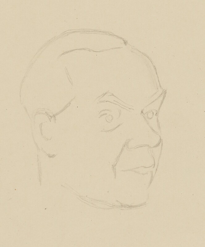 Graham Greene, by Sir David Low, 1952 or before - NPG 4529(150) - © Solo Syndication Ltd
