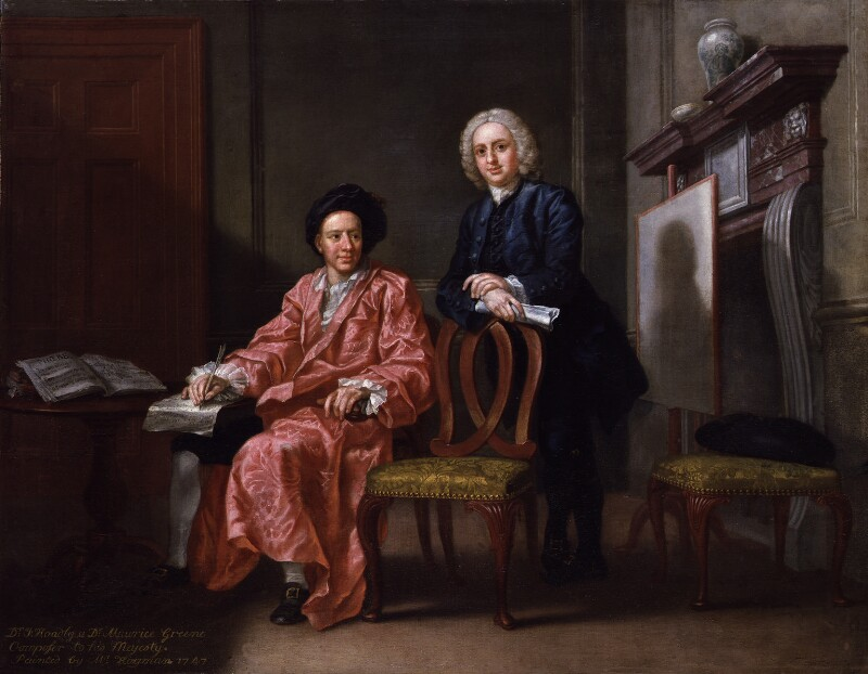 Maurice Greene; John Hoadly, by Francis Hayman, 1747 - NPG 2106 - © National Portrait Gallery, London