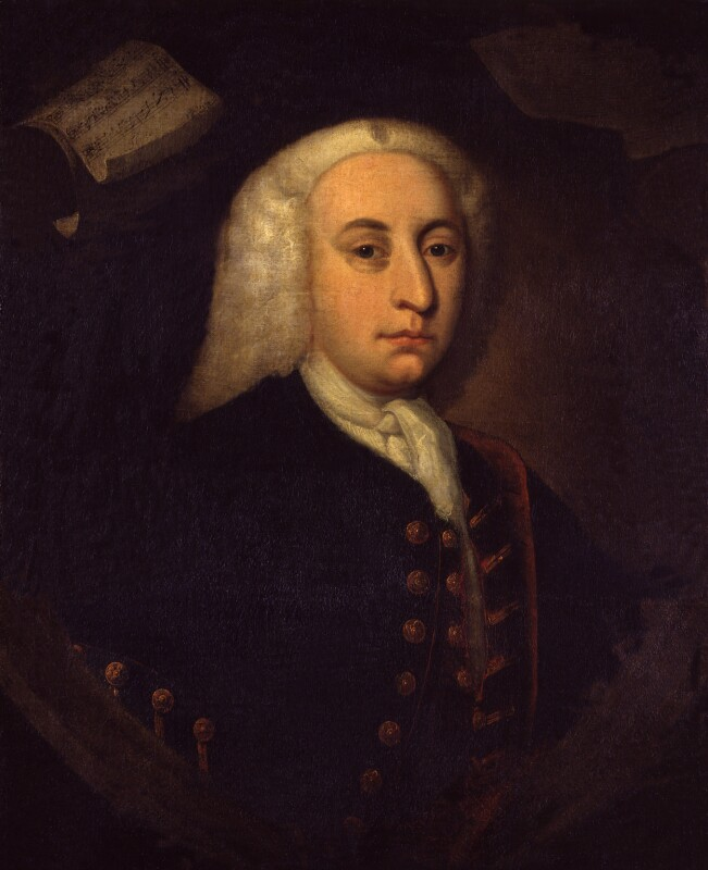Unknown man, formerly known as Maurice Greene, by Unknown artist, 1734 or after - NPG 2085 - © National Portrait Gallery, London