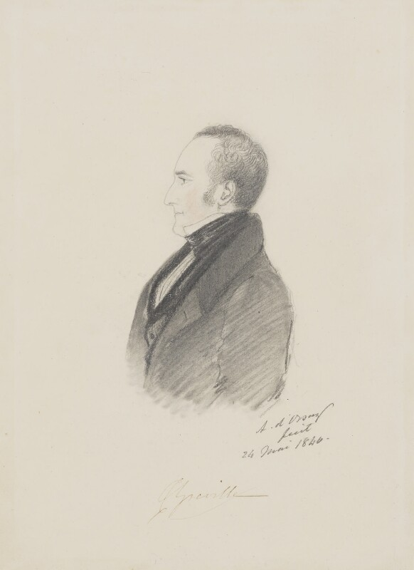 Charles Cavendish Fulke Greville, by Alfred, Count D'Orsay, 1840 - NPG 3773 - © National Portrait Gallery, London